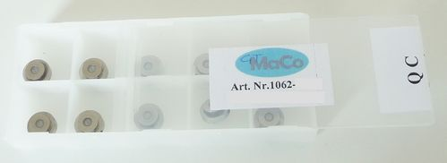 "Box of 10 Sapphire Orifices with plastic retainer 0.008"" (0,20 mm); P2, Pure Water"