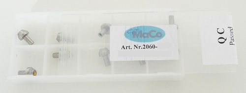 "Box 10 Sapphire Orifices with plastic retainer 0.010"" (0,25 mm); long stem"